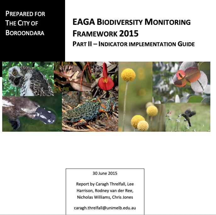 Biodiversity monitoring program in Melbourne